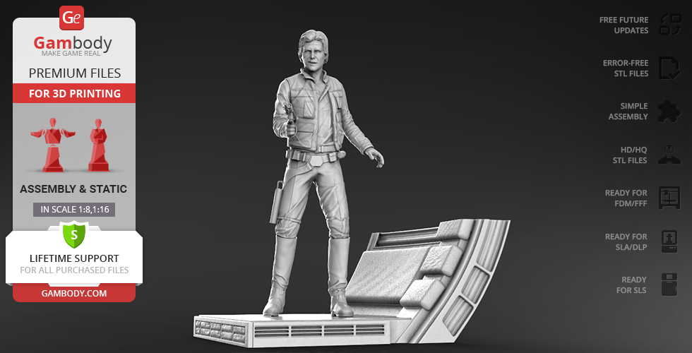 Buy Han Solo 3D Printing Figurine | Assembly