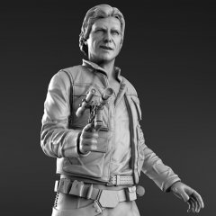 han solo 3d printing figurine assembly