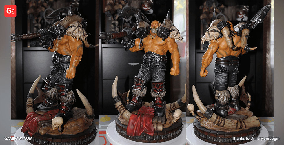 Buy Garrosh Hellscream 3D Printing Figurine | Assembly
