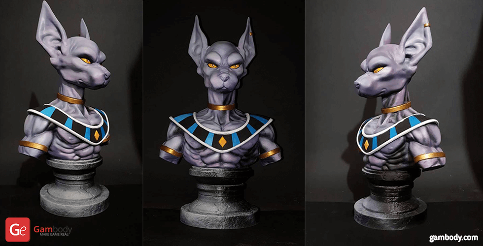 Buy Beerus Bust 3D Printing Figurine | Assembly
