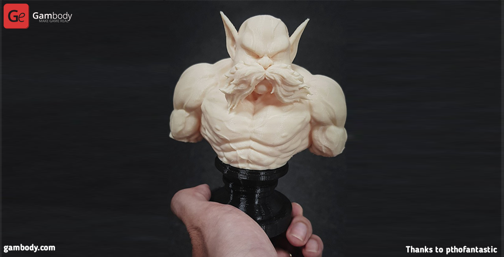 Buy Toppo Bust 3D Printing Figurine | Assembly