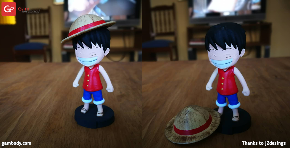Buy Chibi Monkey D. Luffy 3D Printing Miniature | Assembly