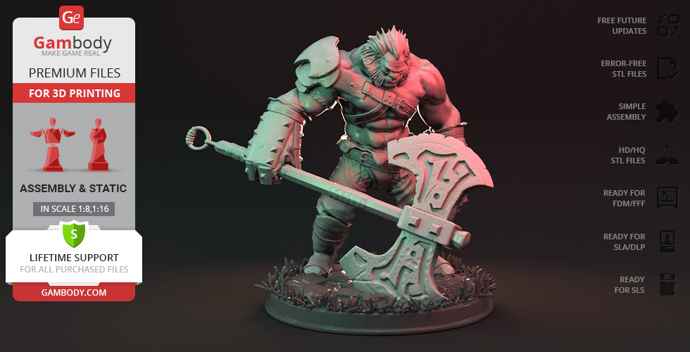 Buy Axe 3D Printing Figurine | Assembly
