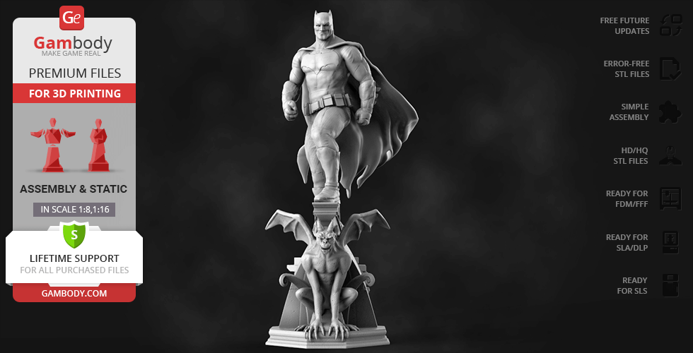 Buy Batman - Dawn of Justice 3D Printing Figurine | Assembly