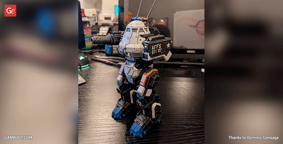 Buy MWO UrbanMech 3D Printing Model | Assembly + Action