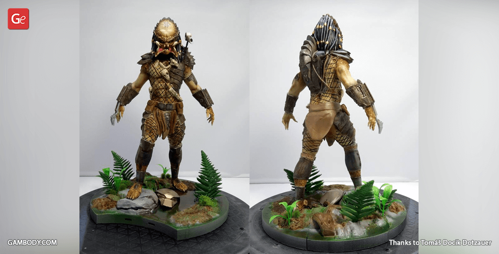 Buy Predator for Diorama 3D Printing Figurine | Assembly