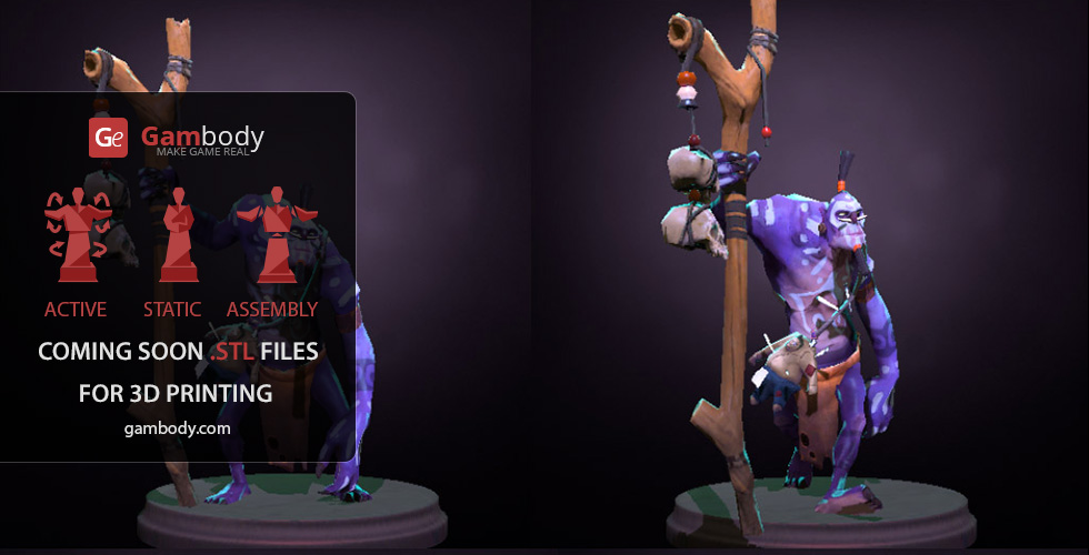 Buy Witch Doctor Dota 2 Hero Scale Model