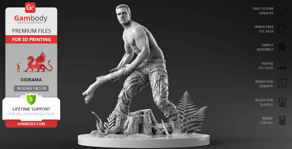 Buy Dutch for Diorama 3D Printing Figurine | Assembly