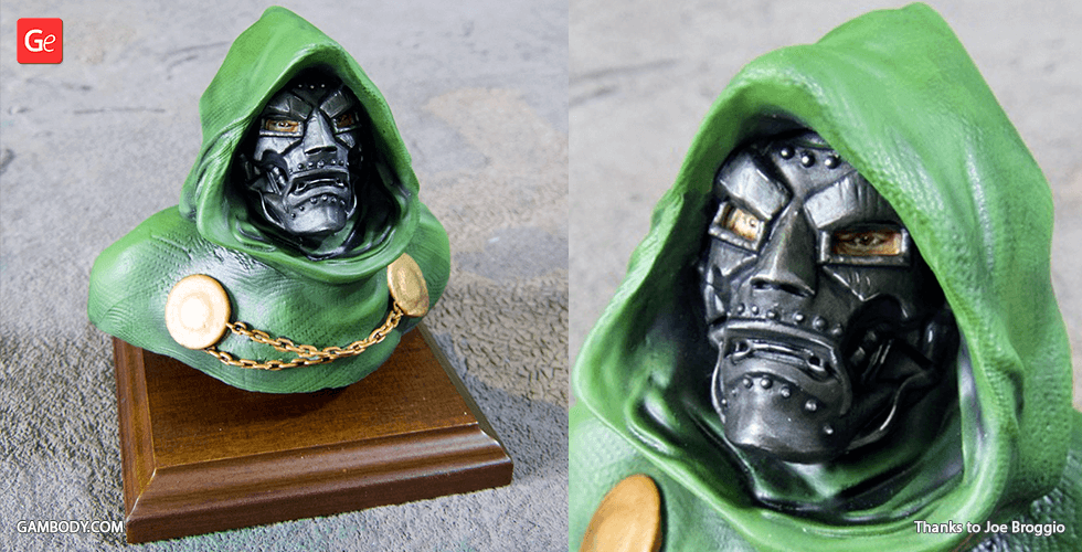 Buy Dr Doom Bust 3D Printing Figurine | Assembly