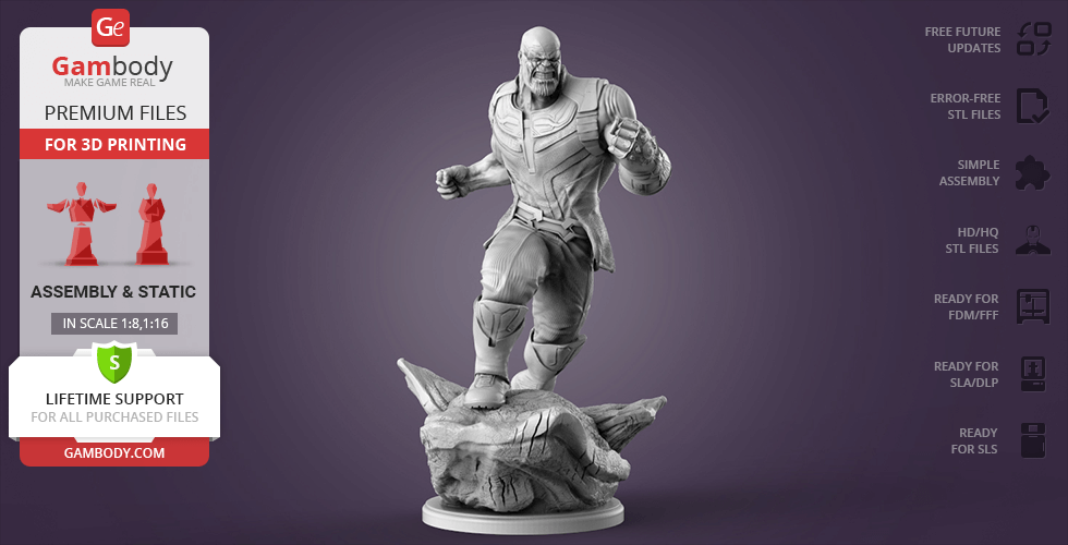 Buy Thanos in Action 3D Printing Figurine   Assembly