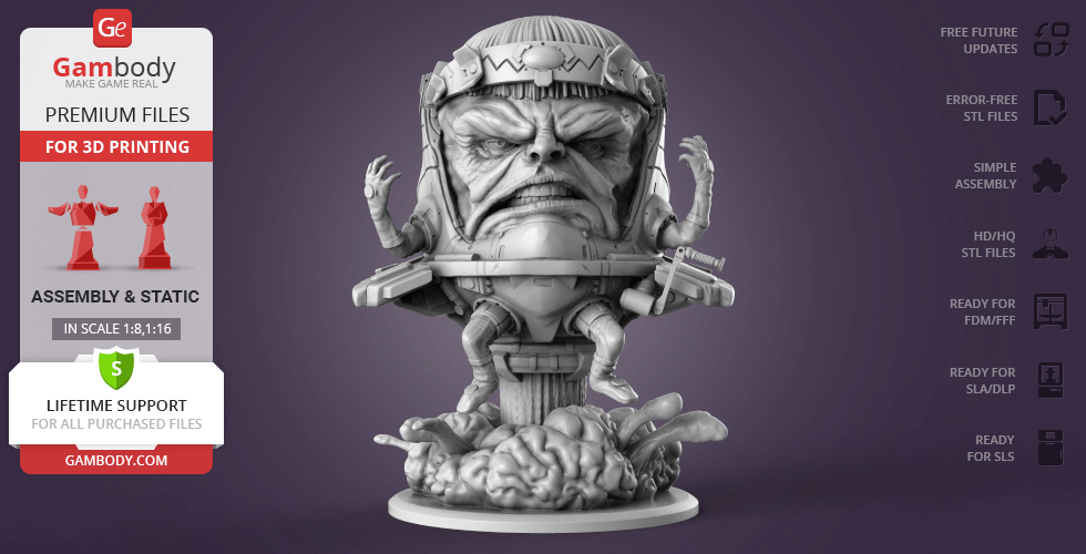 Buy Modok 3D Printing Figurine | Assembly