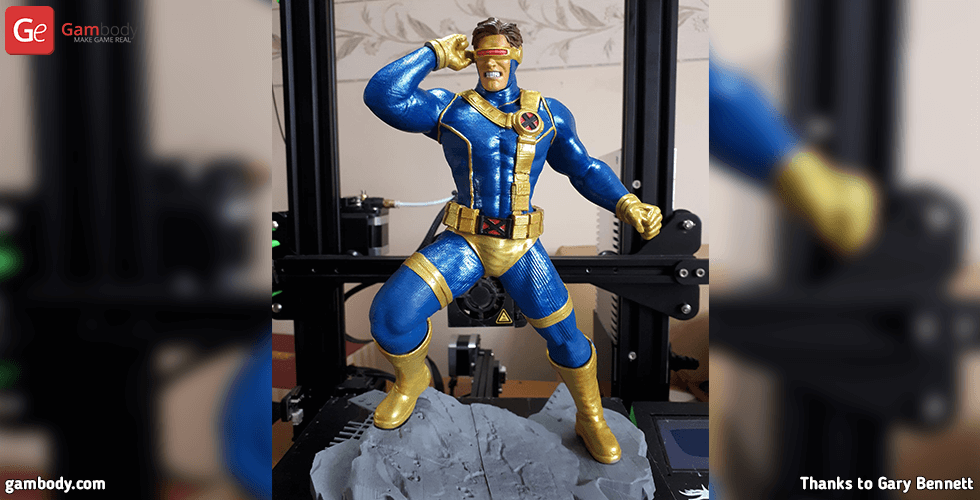 Buy X-Men Cyclops 3D Printing Figurine | Assembly