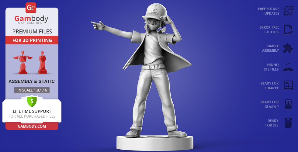 Buy Ash Ketchum 3D Printing Figurine | Assembly