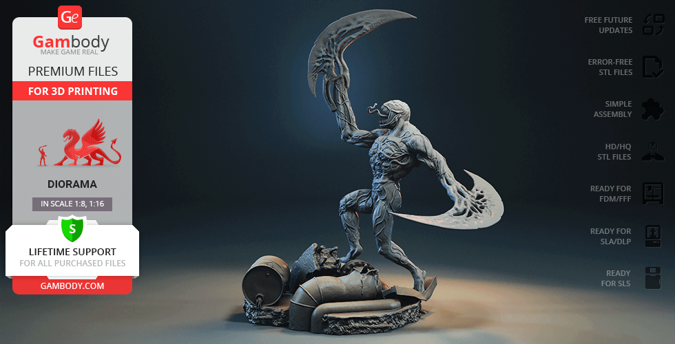 Buy Riot Symbiote 3D Printing Figurine in Diorama   Assembly
