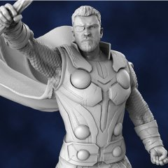 thor with stormbreaker 3d printing figurine assembly
