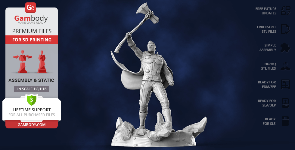Buy Thor with Stormbreaker 3D Printing Figurine | Assembly