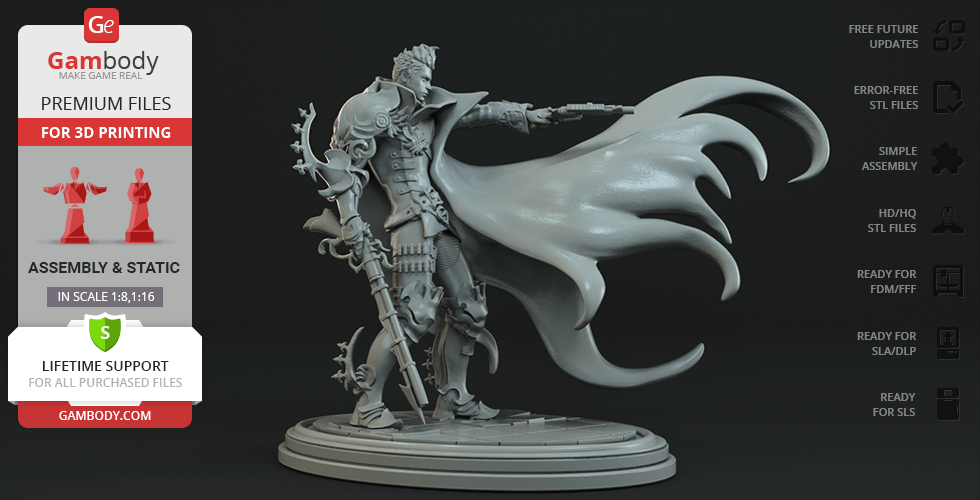 Buy Devil Hunter 3D Printing Figurine | Assembly