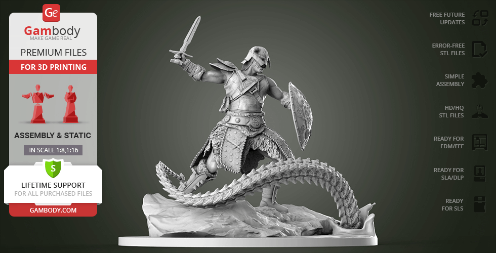 Buy Dovahkiin 3D Printing Figurine | Assembly