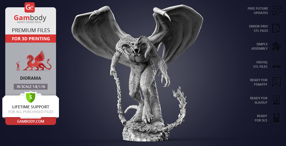 Buy Balrog 3D Printing Figurine in Diorama | Assembly