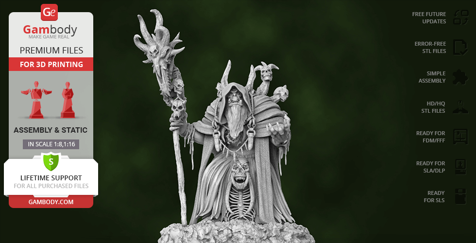 Buy Gul'dan 3D Printing Figurine | Assembly
