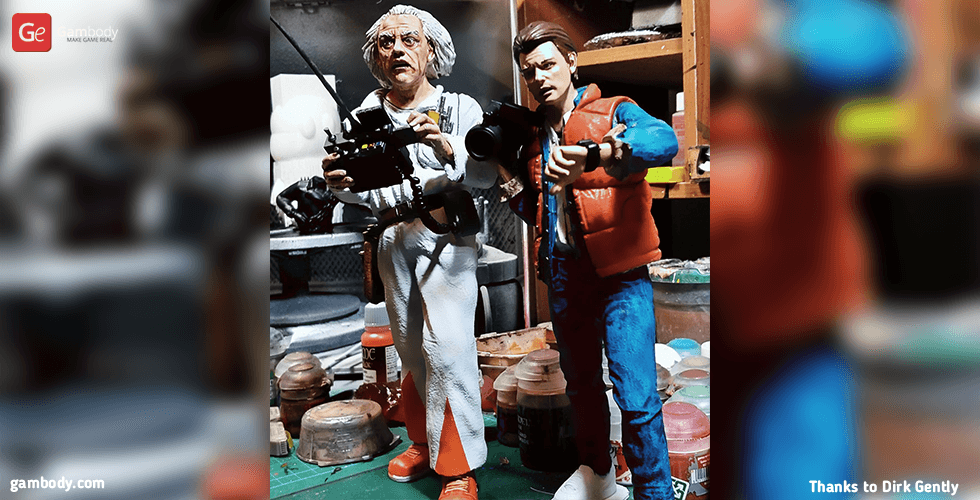 Buy Doc Brown 3D Printing Figurine | Assembly