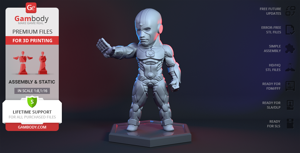Buy Chibi Cyborg 3D Printing Miniature | Assembly