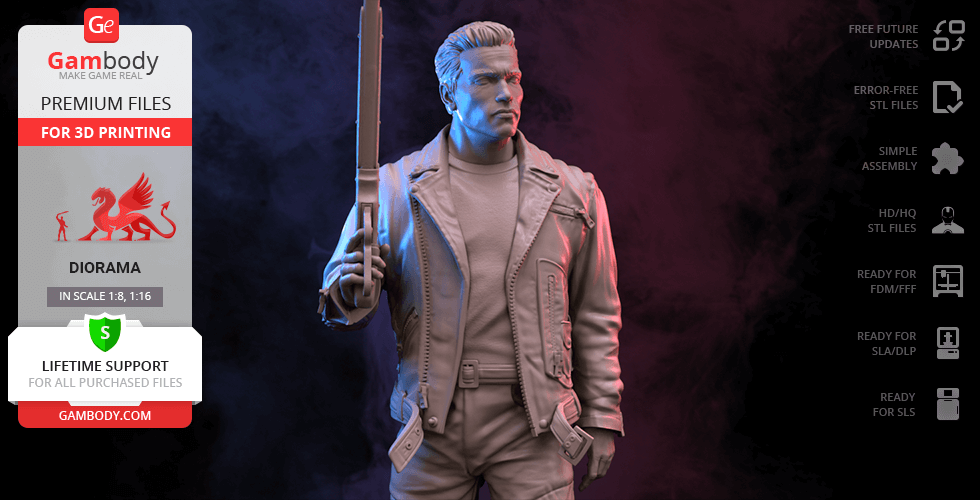 Buy Terminator T-800 3D Printing Figurine   Assembly