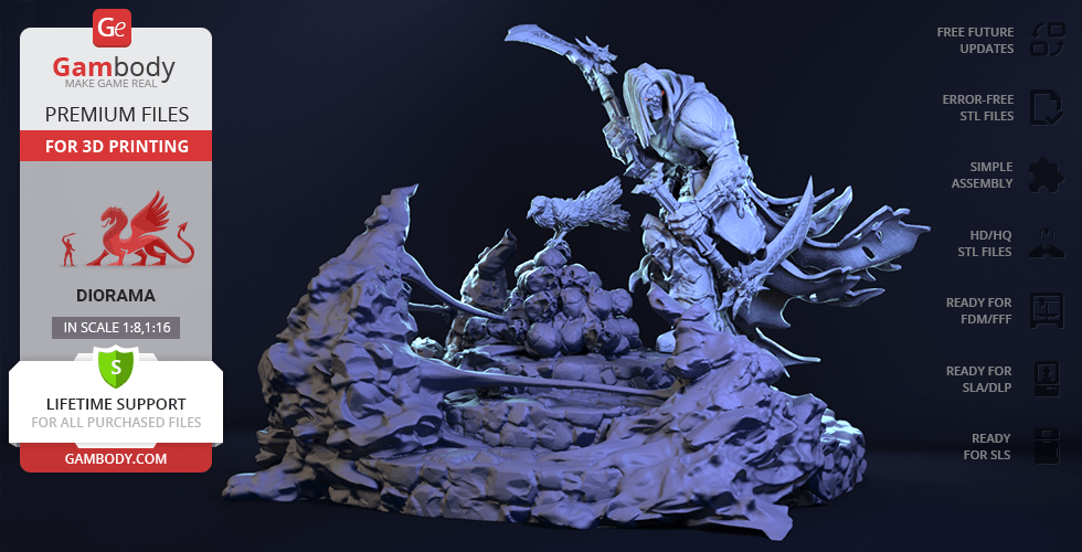 Buy Death 3D Printing Figurine in Diorama | Assembly