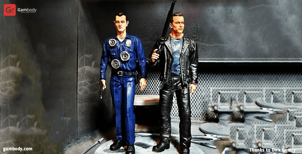 Buy Terminator T-1000 for Diorama 3D Printing Figurine | Assembly