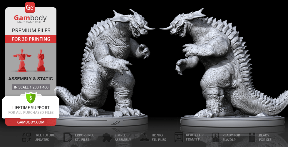 Buy Baragon 3D Printing Figurine | Assembly