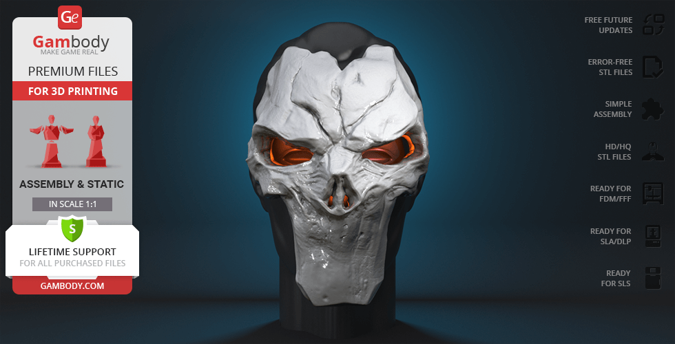 Buy Mask of the Death 3D Printing Cosplay Stuff | Static