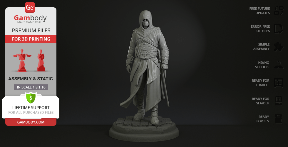 Buy Assassin 3D Printing Figurine | Assembly