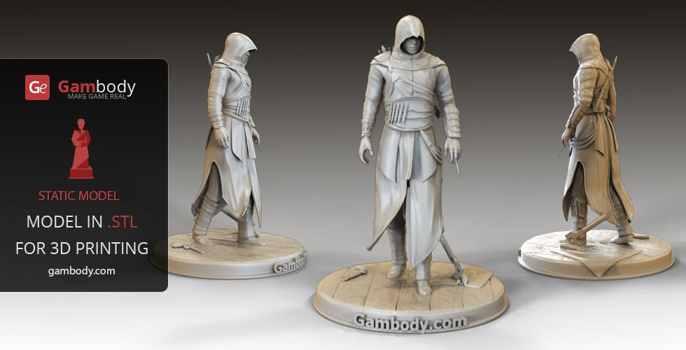 Buy Assassin 3D Model for Print | Static figure