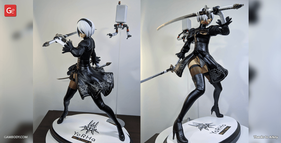 Buy YoRHa 2B 3D Printing Figurine | Assembly