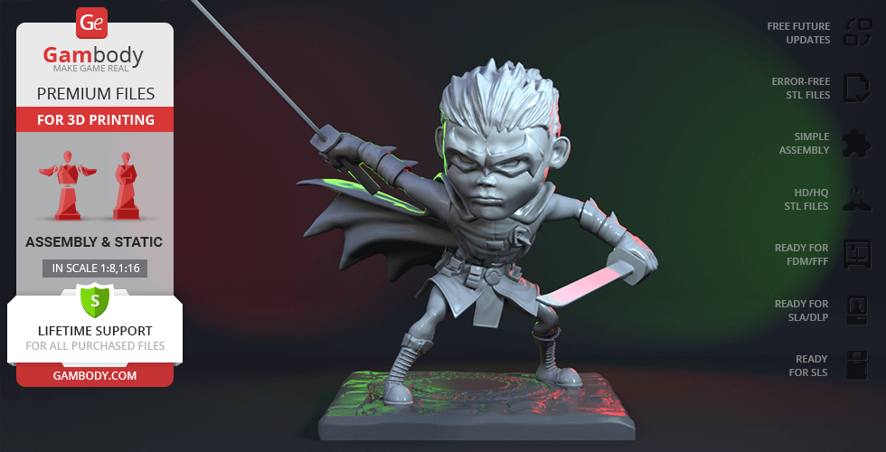Buy Chibi Robin 3D Printing Figurine | Assembly