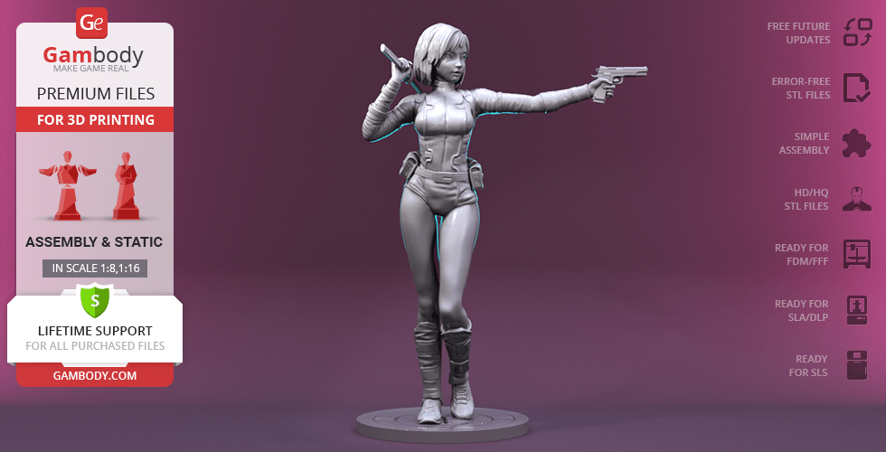 Buy Gwenpool 3D Printing Figurine | Assembly