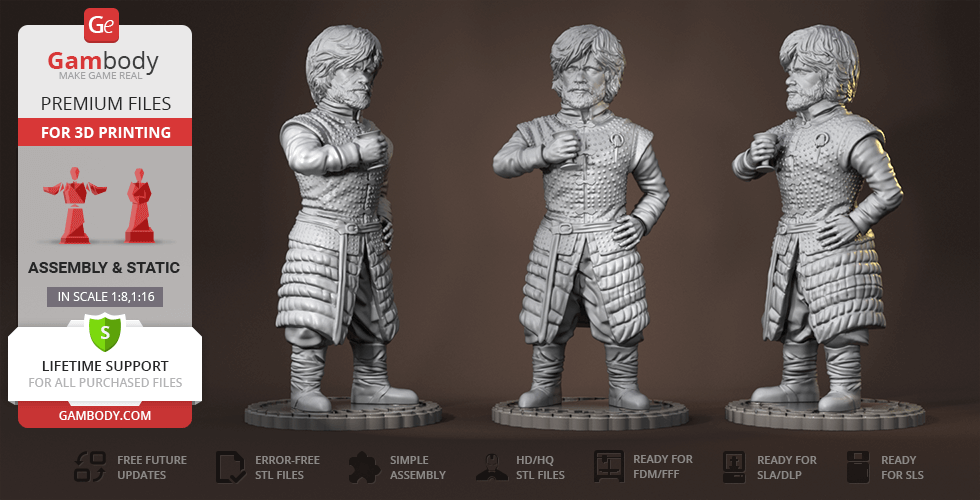 Buy Tyrion 3D Printing Figurine | Assembly
