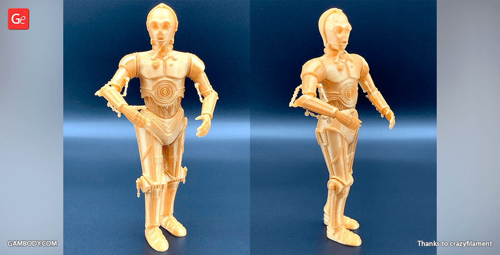 Buy C-3PO 3D Printing Figurine | Assembly