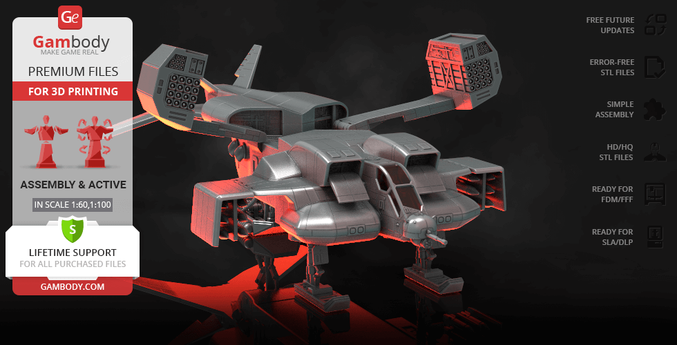 Buy UD-4L Cheyenne Dropship 3D Printing Model | Assembly