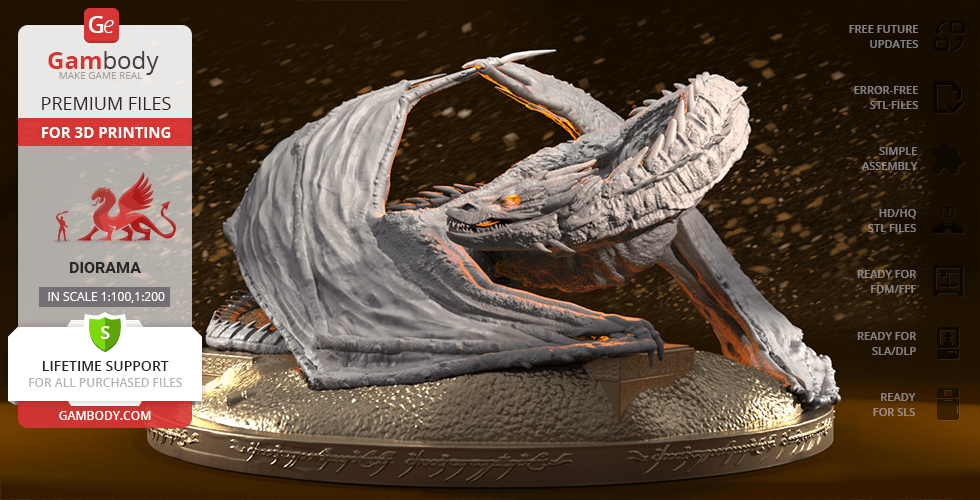 Buy Smaug the Golden 3D Printing Figurine | Assembly