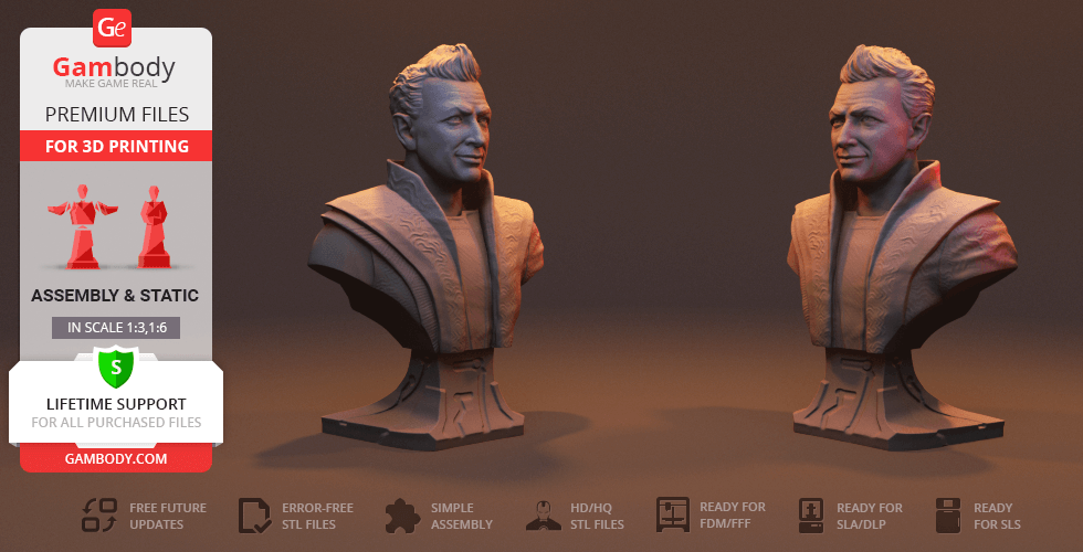 Buy The Grandmaster Bust 3D Printing Figurine | Assembly