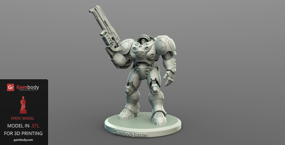 Starcraft terran marine 3d model download 3d print files for Mobel 3d download