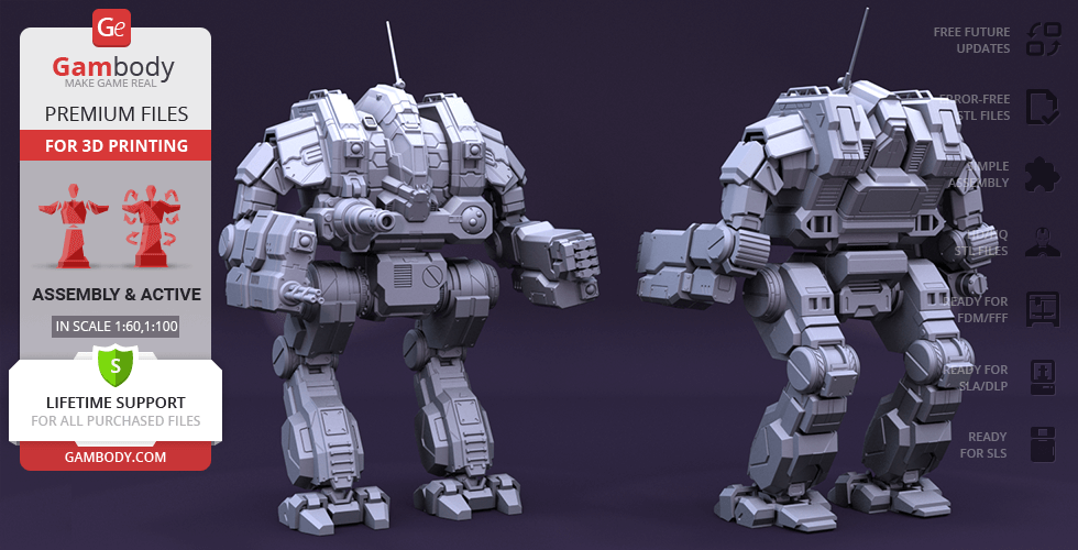 Buy MWO Cataphract 3D Printing Model | Assembly + Action