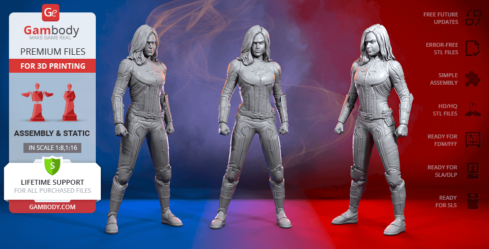 Buy Carol Danvers 3D Printing Figurine | Assembly