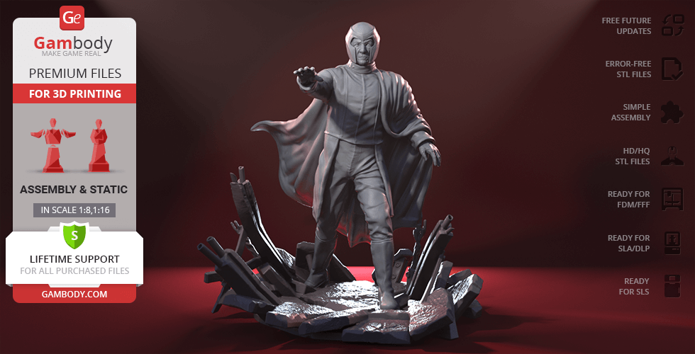 Buy Magneto 3D Printing Figurine | Assembly