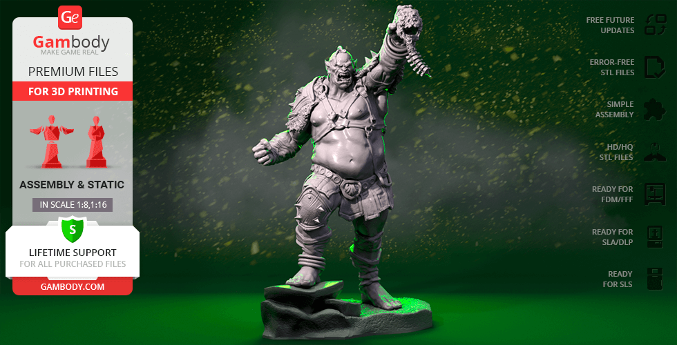 Buy Orc The Executioner 3D Printing Figurine | Assembly