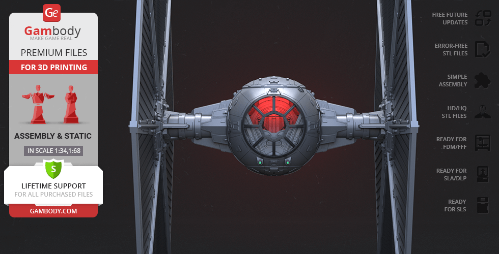 Buy TIE Fighter 3D Printing Model | Assembly