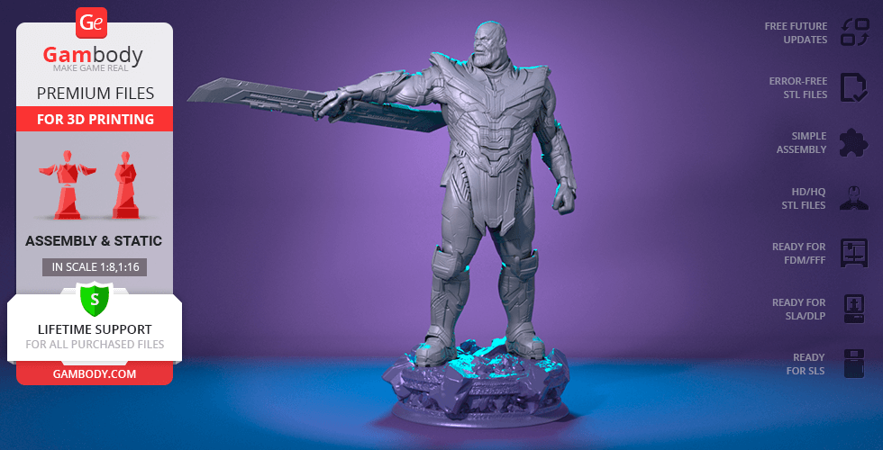 Buy Thanos Endgame 3D Printing Figurine | Assembly