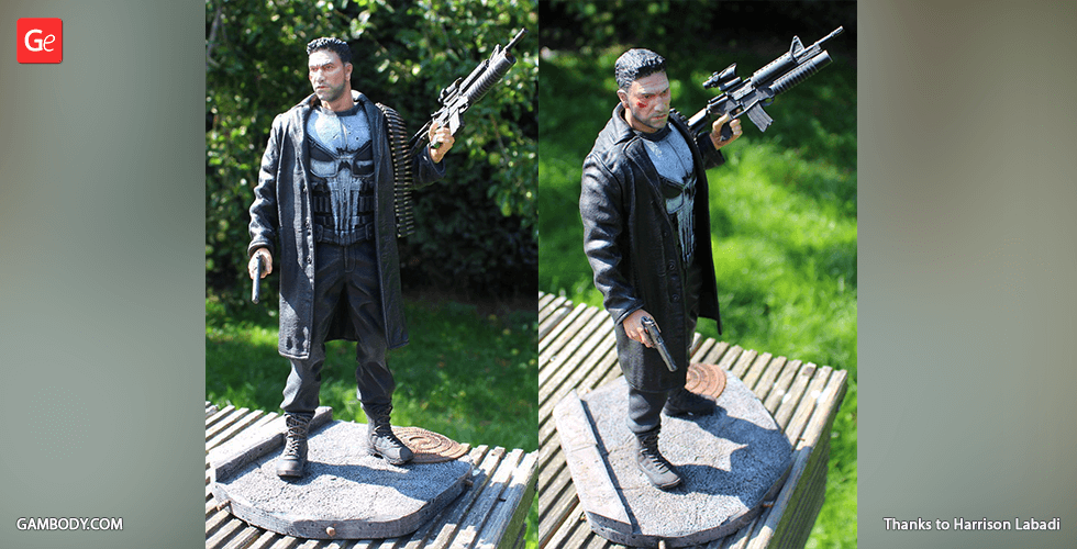 Buy The Punisher 3D Printing Figurine | Assembly