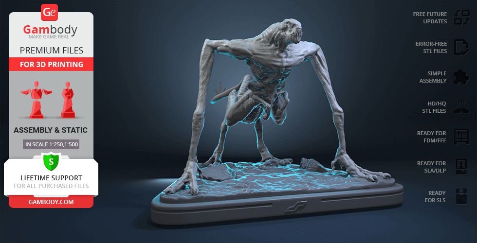 Buy Cloverfield Monster 3D Printing Figurine | Assembly